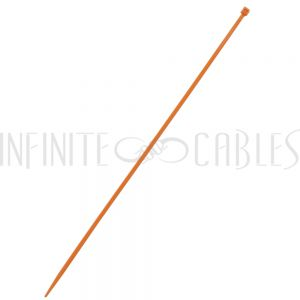 CT-212-100OR 100pk 12 inch cable tie (40lb) - UL94 V-2 nylon 66 - Orange