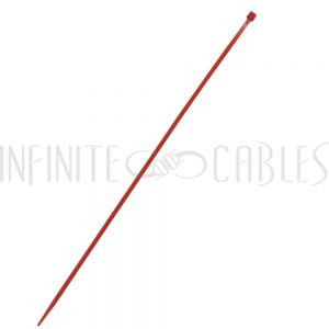 CT-212-100RD 100pk 12 inch cable tie (40lb) - UL94 V-2 nylon 66 - Red - Infinite Cables