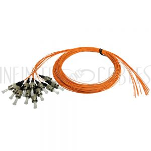 FO-PT500-10-12PK 3m ST/PC multimode simplex 62.5 micron OM1 900um pigtail (12-pack) - orange - Infinite Cables
