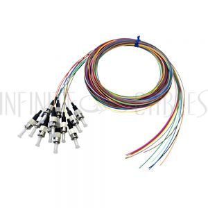 FO-PT500-10R-12PK 3m ST/PC multimode simplex 62.5 micron OM1 900um pigtail (12-pack) - color coded
