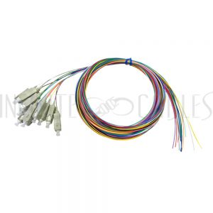 FO-PT504-10R-12PK 3m SC/PC multimode simplex 62.5 micron OM1 900um pigtail (12-pack) - color coded