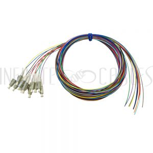 FO-PT508-10R-12PK 3m LC/PC multimode simplex 62.5 micron OM1 900um pigtail (12-pack) - color coded - Infinite Cables