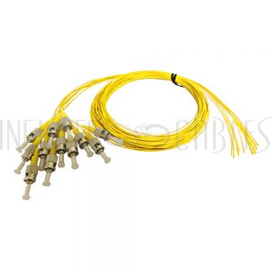 FO-PT600-10-12PK 3m ST/UPC singlemode simplex 9 micron 900um pigtail (12-pack) - yellow - Infinite Cables