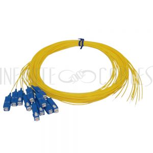 FO-PT604-10-12PK 3m SC/UPC singlemode simplex 9 micron 900um pigtail (12-pack) - yellow - Infinite Cables