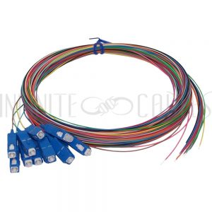 FO-PT604-10R-12PK 3m SC/UPC singlemode simplex 9 micron 900um pigtail (12-pack) - color coded - Infinite Cables