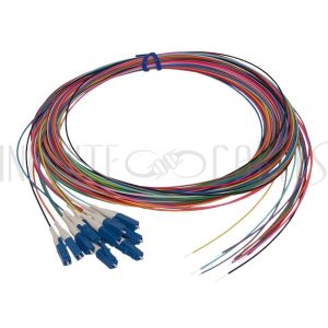 FO-PT608-10R-12PK 3m LC/UPC singlemode simplex 9 micron 900um pigtail (12-pack) - color coded - Infinite Cables