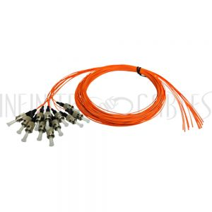 FO-PT700-10-12PK 3m ST/PC multimode simplex 50 micron OM2 900um pigtail (12-pack) - orange - Infinite Cables