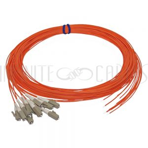 FO-PT708-10-12PK 3m LC/PC multimode simplex 50 micron OM2 900um pigtail (12-pack) - orange - Infinite Cables