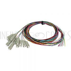 FO-PT804-10R-12PK 3m SC/PC multimode simplex 50 micron OM3 900um pigtail (12-pack) - color coded