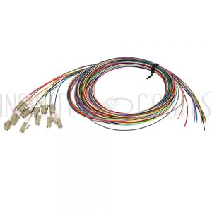 FO-PT808-10R-12PK 3m LC/PC multimode simplex 50 micron OM3 900um pigtail (12-pack) - color coded