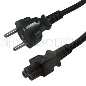PW-172-2M  2m SCHUKO CEE 7/7 (Euro) to IEC C5 Power Cable - H05VV-F 0.75 - Infinite Cables