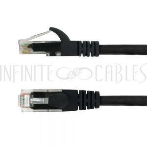 CAT6-0.8BK 8 inch RJ45 Cat6 550MHz Molded Patch Cable - Black - Infinite Cables