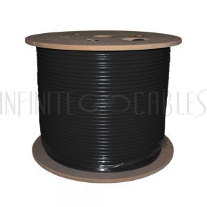 BK-C6ASL-4BK 1000ft 4 Pair Cat6a 10gig Solid UTP FT4/CMR Bulk Cable - Black - Infinite Cables