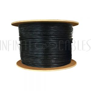 BK-C6AST-4BKS 1000ft 4 Pair Cat6a Stranded (SSTP) FT4/CMR Bulk Cable - Black