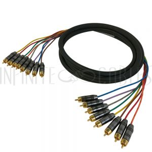 S8-RCA-RCA-03 Premium Phantom Cables RCA Male to RCA Male Analog 8-Channel Snake Cable - Infinite Cables