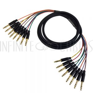 S8-TRS-TRS-03 Premium Phantom Cables TRS Male to TRS Male Balanced Analog 8-Channel Snake Cable - Infinite Cables
