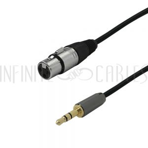 XLRF-35MM-01.5 Premium Phantom Cables XLR Female To 3.5mm Male Balanced Audio Cable FT4 - Infinite Cables