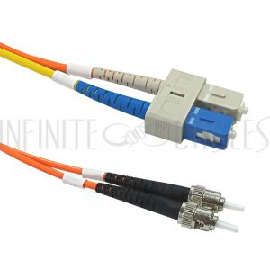 FO-MC103-03-SC Mode Conditioning Cable 62.5 Micron - 3mm Jacket LSZH ST to SC Off-set - Infinite Cables