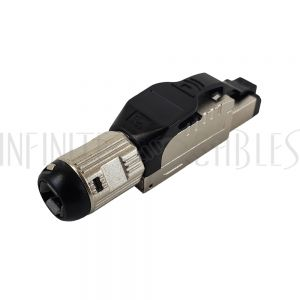 CN-FT-C6AS-BK RJ45 Cat6a Shielded Field Termination Tool-Less Plug (Solid or Stranded) (8P 8C) – IP20