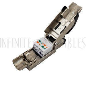 CN-FT-C6AS-BK RJ45 Cat6a Shielded Field Termination Tool-Less Plug (Solid or Stranded) (8P 8C) - IP20 - Infinite Cables