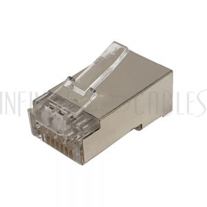 CN-RJ45C6SPT-50 RJ45 Cat6 Pass-Through Shielded Plug (Solid or Stranded) (8P 8C) - Pack of 50