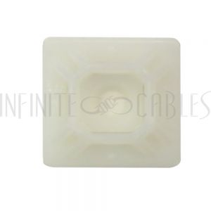 """CT-M150-CL Adhesive cable tie mount 1.5""""x 1.5"""" - Natural - Pack of 100"""