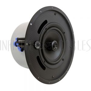 "SPK-T6-FL 6.5"" Coaxial Frameless Commercial Ceiling Speakers (Single) - 70V/100V - 100W Max - UL2043 Plenum Rated"