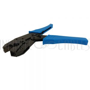 TL-CR-RJ-X Ratchet Style Crimp Tool for RJ45 Shielded Plugs with External Strain Relief - Infinite Cables