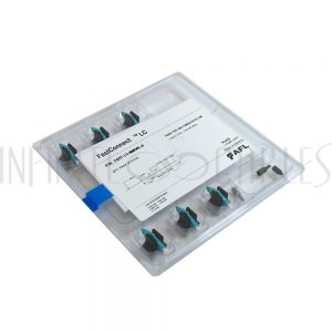 FO-FAST-LC-MM50L-6 FASTCONNECT LC MM OM3/4 Aqua Connector - 6 Pack