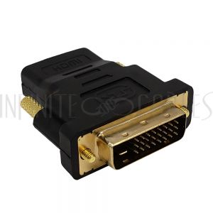 AD-HDMI-DVI-1 DVI-D Male to HDMI Female Adapter - Infinite Cables