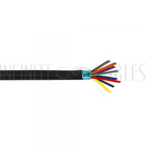 BK-DT09C24-BK 1000ft 9C 24AWG Stranded with Foil Shield Data Cable FT4 - Black - Infinite Cables
