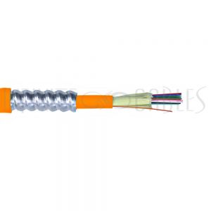 BK-F12A-OM1-P 12-fiber 62.5 Micron Multimode (OM1) Armored AFL (Corning InfiniCor) OFCP (per meter) - Orange - Infinite Cables