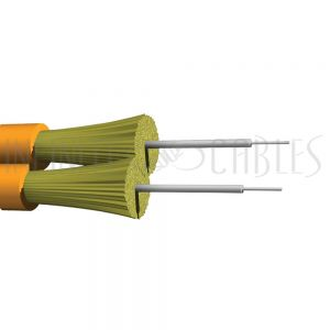BK-F2Z-OM1B-P AFL Corning OM1 Multimode duplex 62.5 Micron fiber zip cord 2mm jacket OFNP (per meter) - Orange - Infinite Cables
