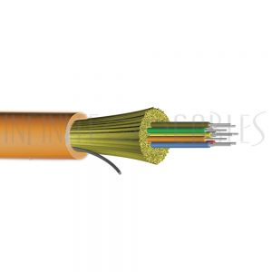 BK-F12D-OM1-R 12-fiber 62.5 Micron Multimode (OM1) I/O AFL (Corning InfiniCor) OFNR (per meter) - Orange