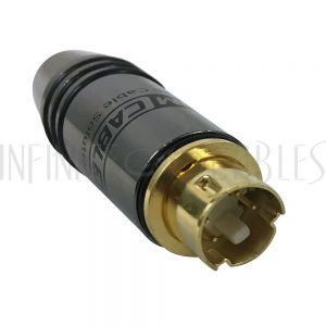 CN-SVDM-7.0BK Premium S-Video Male Solder Connector (7.0mm ID) - Black - Infinite Cables