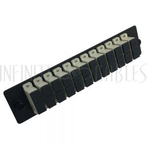 PP-FA104-12BK Loaded Adapter Panel with 12 x Duplex SC/PC Multimode - Black - Infinite Cables