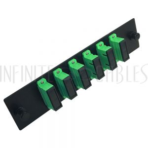 PP-FA204A-6BK Loaded Adapter Panel with 6 x Duplex SC/APC Singlemode - Black - Infinite Cables