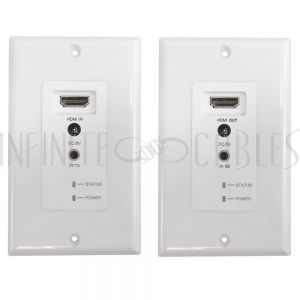 VE-HDMI-011 HDMI Wall Plate Extender Over One  Cat5e/6 UTP Cable 60M - IR & 3D support - Infinite Cables