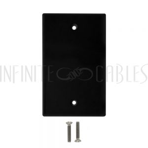 WP-BK Wall Plate, Solid - Black