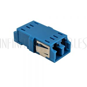 FO-AD208-PMR LC/LC Fiber Coupler F/F Singlemode Duplex Ceramic Reduced Flange - Blue - Infinite Cables