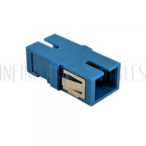 FO-AD604-PMR SC/SC Fiber Coupler F/F Singlemode Simplex Ceramic Reduced Flange - Blue - Infinite Cables
