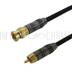 RCA-BNCPH-03 Premium Phantom Cables RG59 RCA Male to BNC Male Cable FT4 - Infinite Cables