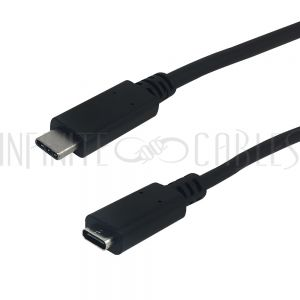 USB-317-6IN USB 3.1 Type-C Male to Type-C Female Cable 10G 3A - Infinite Cables