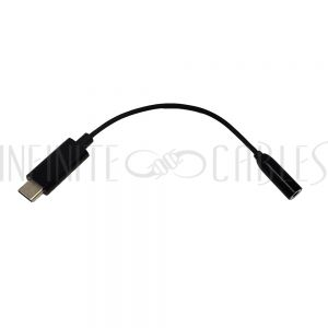 AD-UC-AD01 USB 3.1 Type-C Male to 3.5mm 4-Pole Female Adapter - Black - Infinite Cables