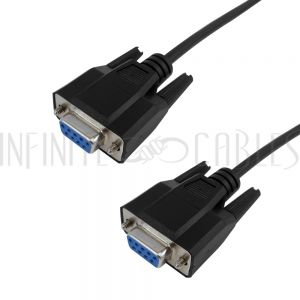 SR-102-06BK DB9 Female to DB9 Female Serial Cable - Straight-Through - Infinite Cables