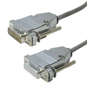 T1-321-03 T1 Cross-Over DB15 Male to DB15 Female 2pr 100ohm - Infinite Cables