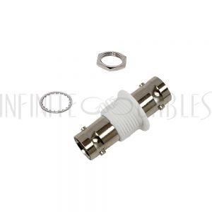 AD-3131-50 BNC Female to BNC Female Adapter - 50 Ohm Bulkhead - Insulated Ground - Infinite Cables
