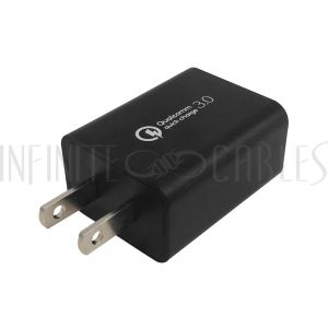 CH-USB-AC1Q-BK USB Wall Charger - Qualcomm Quick Charge 3.0 - Black