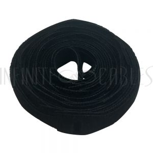 VL-ST50-05BK-25 5 inch by 1/2 inch Rip-Tie Light Duty Strap - Black - Roll of 25 - Infinite Cables
