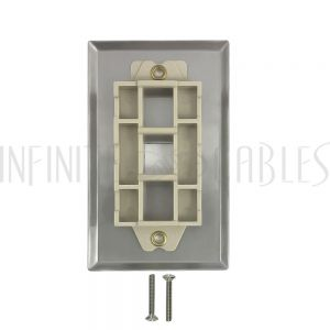 WP-1P-SS 1-Port Keystone Stainless Steel Wall Plate